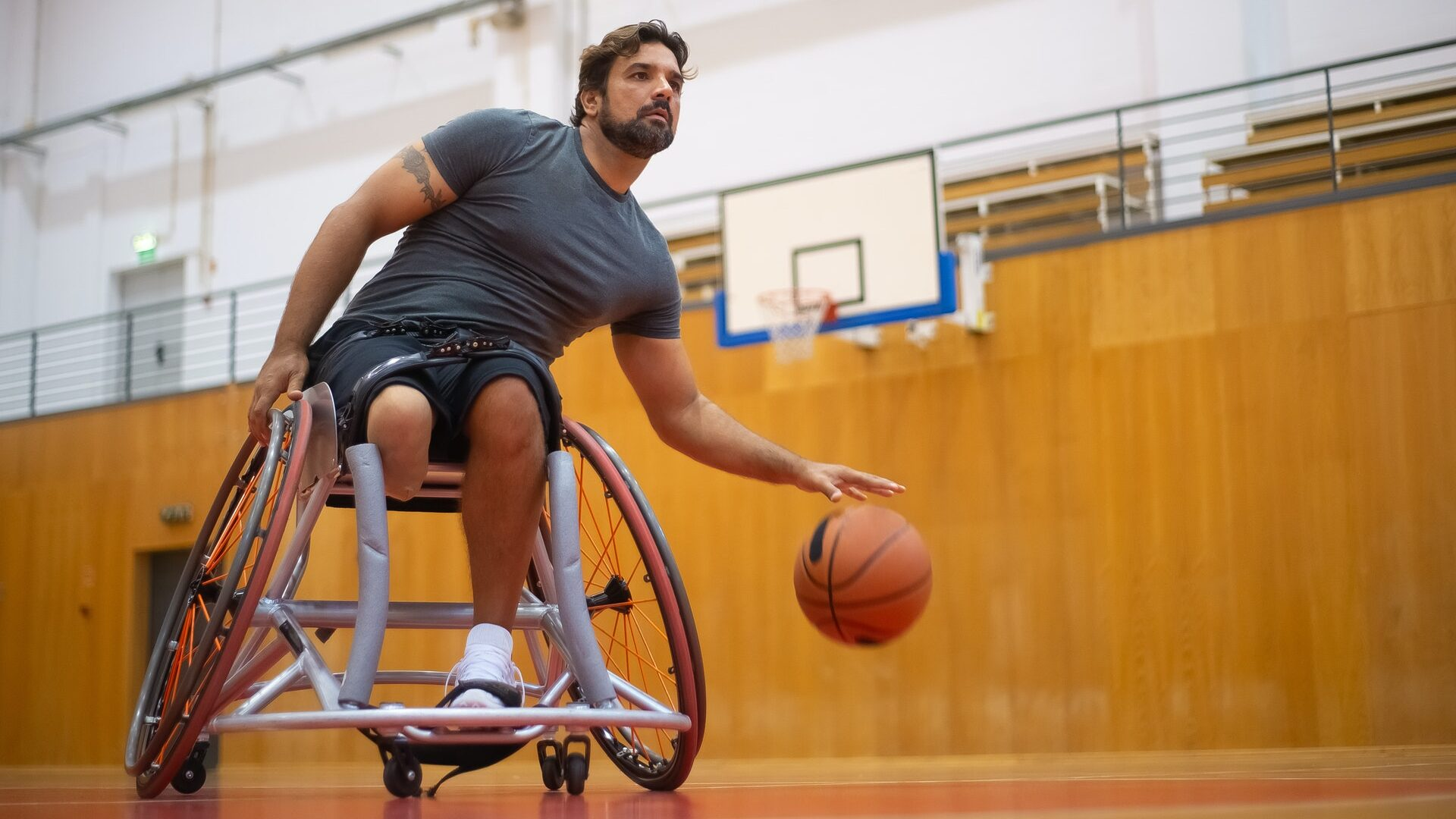 basket-sedia a rotelle